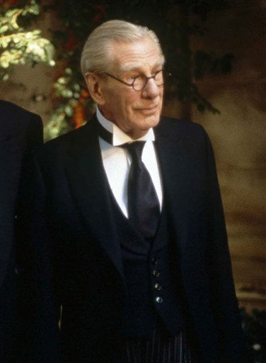 FILE - In this 1997 photo originally released by Warner Bros. Pictures, Michael Gough portrays Alfred, the trusted butler of Bruce Wayne in a scene from the movie &#34;Batman and Robin.&#34;  Gough, the British actor who performed in more than 150 movies and television shows, including British science-fiction show &#34;Doctor Who,&#34; died at home in England on Thursday, March 17, 2011.  He was 94. &#40;AP Photo&#47;Warner Bros. Pictures, Christine Loss&#41; <span class=meta>(AP Photo&#47; Christine Loss)</span>