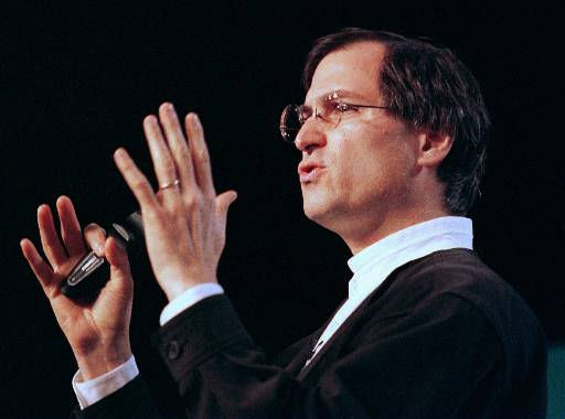 "<div class=""meta image-caption""><div class=""origin-logo origin-image ""><span></span></div><span class=""caption-text"">FILE--Steve Jobs, the chief executive of the animation company Pixar, speaks at the MacWorld trade show in San Francisco on Jan. 7, 1997. Jobs has turned down an offer to become Apple Computer Inc. s next chairman and chief executive officer, published reports said Thursday, July 31, 1997. Jobs said Apple s board of directors asked him three weeks ago, after the July 9 ouster of Gil Amelio, to head the company he co-founded in 1976. (AP Photo/Eric Risberg, File) (AP Photo/ ERIC RISBERG)</span></div>"