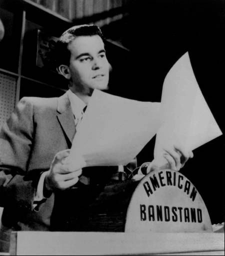 "<div class=""meta ""><span class=""caption-text "">Disc jockey television personality Dick Clark looks over some papers during an American Bandstand show in Philadelphia in this undated photo.  (AP Photo) (AP Photo/ Anonymous)</span></div>"