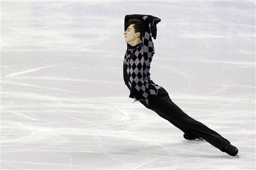 Jonathan Cassar competes in the senior men&#39;s free skate program at the U.S. figure skating championships in Omaha, Neb., Sunday, Jan. 27, 2013. &#40;AP Photo&#47;Nati Harnik&#41; <span class=meta>(AP Photo&#47; Nati Harnik)</span>