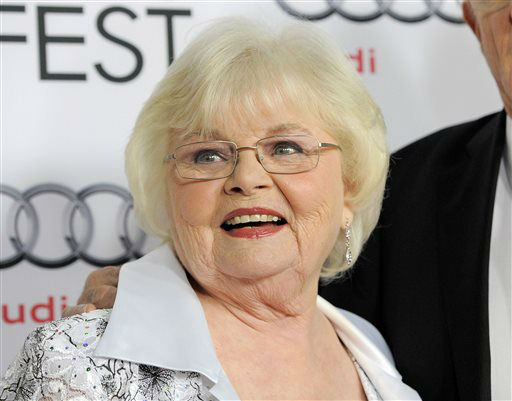 FILE - This Nov. 11, 2013 file photo shows June Squibb, a cast member in &#34;Nebraska,&#34; at the 2013 AFI Fest premiere of the film in Los Angeles.  Squibb was nominated for a Golden Globe for best supporting actress in a motion picture for her role in the film on Thursday, Dec. 12, 2013.  The 71st annual Golden Globes will air on Sunday, Jan. 12. &#40;Photo by Chris  Pizzello&#47;Invision&#47;AP, File&#41; <span class=meta>(Photo&#47;Chris Pizzello)</span>