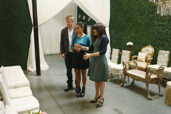 "<div class=""meta ""><span class=""caption-text "">THE BACHELOR: SEAN AND CATHERINE'S WEDDING - Sean Lowe and Catherine Giudici, the latest to join other ""Bachelor"" couples who have walked down the aisle, will share a dramatic new chapter of their love story with millions of viewers and Bachelor Nation when ABC televises their much anticipated wedding - live, on ""The Bachelor: Sean and Catherine's Wedding,"" SUNDAY, JANUARY 26, 2014 (8:00-10:00 p.m., ET), on the ABC Television Network. This will mark the first time ever a ""Bachelor"" wedding has been telecast live. (ABC/Greg Zabilski) SEAN LOWE, CATHERINE GIUDICI, MINDY WEISS (ABC Photo/ Greg Zabilski)</span></div>"