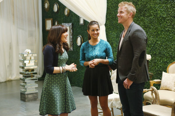 "<div class=""meta ""><span class=""caption-text "">THE BACHELOR: SEAN AND CATHERINE'S WEDDING - Sean Lowe and Catherine Giudici, the latest to join other ""Bachelor"" couples who have walked down the aisle, will share a dramatic new chapter of their love story with millions of viewers and Bachelor Nation when ABC televises their much anticipated wedding - live, on ""The Bachelor: Sean and Catherine's Wedding,"" SUNDAY, JANUARY 26, 2014 (8:00-10:00 p.m., ET), on the ABC Television Network. This will mark the first time ever a ""Bachelor"" wedding has been telecast live. (ABC/Greg Zabilski) MINDY WEISS, CATHERINE GIUDICI, SEAN LOWE (ABC Photo/ Greg Zabilski)</span></div>"