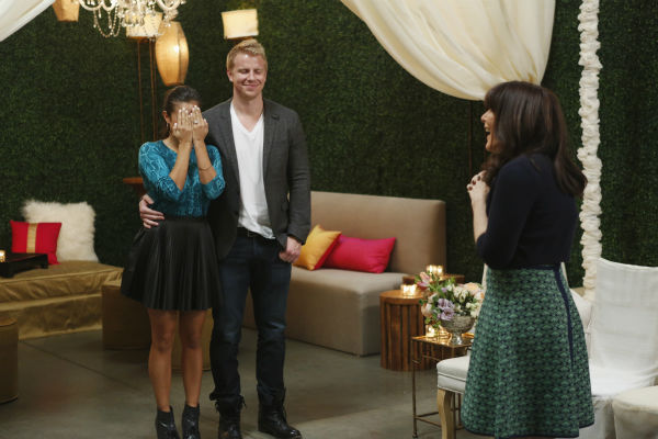 "<div class=""meta image-caption""><div class=""origin-logo origin-image ""><span></span></div><span class=""caption-text"">THE BACHELOR: SEAN AND CATHERINE'S WEDDING - Sean Lowe and Catherine Giudici, the latest to join other ""Bachelor"" couples who have walked down the aisle, will share a dramatic new chapter of their love story with millions of viewers and Bachelor Nation when ABC televises their much anticipated wedding - live, on ""The Bachelor: Sean and Catherine's Wedding,"" SUNDAY, JANUARY 26, 2014 (8:00-10:00 p.m., ET), on the ABC Television Network. This will mark the first time ever a ""Bachelor"" wedding has been telecast live. (ABC/Greg Zabilski) CATHERINE GIUDICI, SEAN LOWE, MINDY WEISS (ABC Photo/ Greg Zabilski)</span></div>"