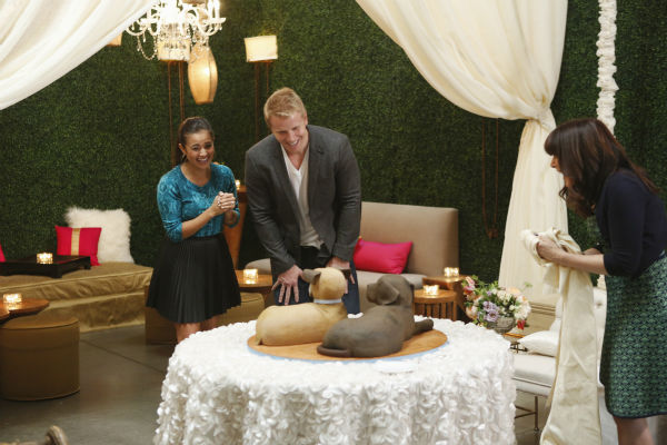 "<div class=""meta ""><span class=""caption-text "">THE BACHELOR: SEAN AND CATHERINE'S WEDDING - Sean Lowe and Catherine Giudici, the latest to join other ""Bachelor"" couples who have walked down the aisle, will share a dramatic new chapter of their love story with millions of viewers and Bachelor Nation when ABC televises their much anticipated wedding - live, on ""The Bachelor: Sean and Catherine's Wedding,"" SUNDAY, JANUARY 26, 2014 (8:00-10:00 p.m., ET), on the ABC Television Network. This will mark the first time ever a ""Bachelor"" wedding has been telecast live. (ABC/Greg Zabilski) CATHERINE GIUDICI, SEAN LOWE, MINDY WEISS (ABC Photo/ Greg Zabilski)</span></div>"