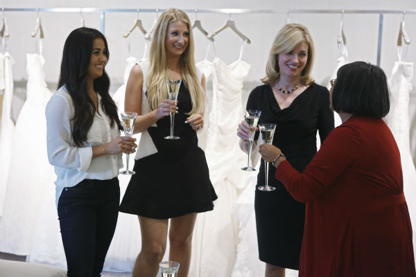 "<div class=""meta image-caption""><div class=""origin-logo origin-image ""><span></span></div><span class=""caption-text"">THE BACHELOR: SEAN AND CATHERINE'S WEDDING - Sean Lowe and Catherine Giudici, the latest to join other ""Bachelor"" couples who have walked down the aisle, will share a dramatic new chapter of their love story with millions of viewers and Bachelor Nation when ABC televises their much anticipated wedding - live, on ""The Bachelor: Sean and Catherine's Wedding,"" SUNDAY, JANUARY 26, 2014 (8:00-10:00 p.m., ET), on the ABC Television Network. This will mark the first time ever a ""Bachelor"" wedding has been telecast live. (ABC/Greg Zabilski) CATHERINE GIUDICI, CHRISTA OSHER, SHERRY LOWE, CYNTHIA MEJIA-GIUDICI (ABC Photo/ Greg Zabilski)</span></div>"
