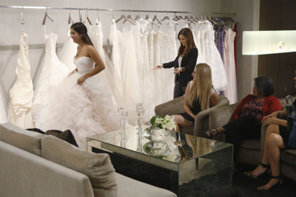 "<div class=""meta ""><span class=""caption-text "">THE BACHELOR: SEAN AND CATHERINE'S WEDDING - Sean Lowe and Catherine Giudici, the latest to join other ""Bachelor"" couples who have walked down the aisle, will share a dramatic new chapter of their love story with millions of viewers and Bachelor Nation when ABC televises their much anticipated wedding - live, on ""The Bachelor: Sean and Catherine's Wedding,"" SUNDAY, JANUARY 26, 2014 (8:00-10:00 p.m., ET), on the ABC Television Network. This will mark the first time ever a ""Bachelor"" wedding has been telecast live. (ABC/Greg Zabilski) CATHERINE GIUDICI, MONIQUE LHUILLIER, CHRISTA OSHER, CYNTHIA MEJIA-GIUDICI (ABC Photo/ Greg Zabilski)</span></div>"