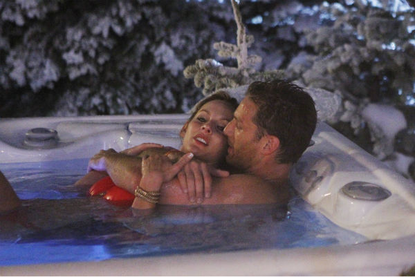 "<div class=""meta image-caption""><div class=""origin-logo origin-image ""><span></span></div><span class=""caption-text"">THE BACHELOR - ""Episode 1802"" - Juan Pablo, who likes to call himself ""El Bachelor,"" flirtatiously blindfolds Clare and proceeds to drive her to a secret location on the outskirts of Los Angeles. To her amazement, she discovers that a snow-covered fantasy has been created for them right in the middle of balmy Los Angeles. The couple spends a magical evening sledding down mountains, building snowmen and ice skating on a private rink. The Bachelor uncovers an emotional side to Clare as she recounts the heart-wrenching story of her father's death and how it has impacted her and her ability to open her heart to love. Later, the couple shares passionate kisses as they dance the night away while being serenaded in a private concert by singer-songwriter Josh Krajcik. But will all of this be enough for Juan Pablo to offer Clare a rose or will she be sent home? - on ""The Bachelor,"" MONDAY, JANUARY 13 (8:00-10:01 p.m., ET), on the ABC Television Network. (ABC/Rick Rowell) CLARE, JUAN PABLO GALAVIS (Photo/Rick Rowell)</span></div>"