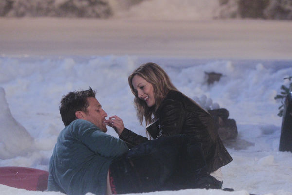 "<div class=""meta image-caption""><div class=""origin-logo origin-image ""><span></span></div><span class=""caption-text"">THE BACHELOR - ""Episode 1802"" - Juan Pablo, who likes to call himself ""El Bachelor,"" flirtatiously blindfolds Clare and proceeds to drive her to a secret location on the outskirts of Los Angeles. To her amazement, she discovers that a snow-covered fantasy has been created for them right in the middle of balmy Los Angeles. The couple spends a magical evening sledding down mountains, building snowmen and ice skating on a private rink. The Bachelor uncovers an emotional side to Clare as she recounts the heart-wrenching story of her father's death and how it has impacted her and her ability to open her heart to love. Later, the couple shares passionate kisses as they dance the night away while being serenaded in a private concert by singer-songwriter Josh Krajcik. But will all of this be enough for Juan Pablo to offer Clare a rose or will she be sent home? - on ""The Bachelor,"" MONDAY, JANUARY 13 (8:00-10:01 p.m., ET), on the ABC Television Network. (ABC/Rick Rowell) JUAN PABLO GALAVIS, CLARE (ABC Photo/ Rick Rowell)</span></div>"