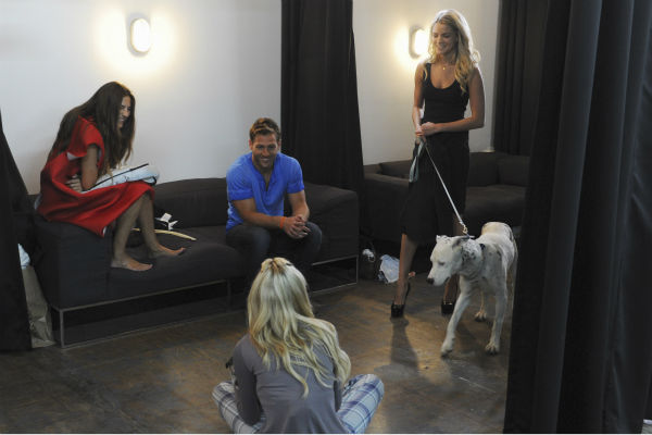 "<div class=""meta image-caption""><div class=""origin-logo origin-image ""><span></span></div><span class=""caption-text"">THE BACHELOR - ""Episode 1802"" - Thirteen women meet up with the handsome single dad for a photo shoot benefitting Best Friends Animal Society, an organization that focuses on the plight of animals in need. Each bachelorette is assigned a dog and takes a photo with the pup and Juan Pablo. However, when several revealing costumes are unveiled, two women go into an emotional tailspin and have second thoughts about whether they should continue with the shoot. Lucy rushes to the aid of one of her struggling counterparts by offering to go ""au natural."" But at that evening's after party, one woman steals the spotlight when she has a meltdown over not getting one-on-one time with Juan Pablo and derails the night. Will Juan Pablo forgive this bachelorette and chalk up the outburst to nerves or will this be the end of the line for her? - on ""The Bachelor,"" MONDAY, JANUARY 13 (8:00-10:01 p.m., ET), on the ABC Television Network. (ABC/Todd Wawrychuk) LUCY, JUAN PABLO GALAVIS, NIKKI (Photo/Todd Wawrychuk)</span></div>"
