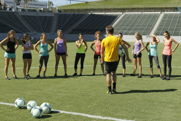 THE BACHELOR - &#34;Episode 1803&#34; - Juan Pablo loves soccer, as the women are well aware, and now ten of them will attempt to show off their soccer skills when they arrive at the Stub Hub Center in Carson, California, the home of two-time Major League Soccer World Champions the Los Angeles Galaxy. After he demonstrates some of his signature moves while warming up with a few of the professional players, Juan Pablo splits the women into two teams and the ladies battle for his attention. But the real competition heats up at the after party when the women try to win the group date rose. Sharleen, Andi and Nikki all think their connections with the Bachelor are heating up, but are they? - on &#34;The Bachelor,&#34; MONDAY, JANUARY 20 &#40;8:00-10:01 p.m., ET&#41;, on the ABC Television Network. &#40;ABC&#47;Rick Rowell&#41; ALLI, LAUREN, RENEE, LUCY, SHARLEEN, DANIELLE, JUAN PABLO GALAVIS, ANDI, NIKKI, CHRISTY, KELLY <span class=meta>(ABC Photo&#47; Rick Rowell)</span>