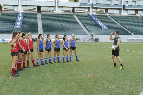 THE BACHELOR - &#34;Episode 1803&#34; - Juan Pablo loves soccer, as the women are well aware, and now ten of them will attempt to show off their soccer skills when they arrive at the Stub Hub Center in Carson, California, the home of two-time Major League Soccer World Champions the Los Angeles Galaxy. After he demonstrates some of his signature moves while warming up with a few of the professional players, Juan Pablo splits the women into two teams and the ladies battle for his attention. But the real competition heats up at the after party when the women try to win the group date rose. Sharleen, Andi and Nikki all think their connections with the Bachelor are heating up, but are they? - on &#34;The Bachelor,&#34; MONDAY, JANUARY 20 &#40;8:00-10:01 p.m., ET&#41;, on the ABC Television Network. &#40;ABC&#47;Rick Rowell&#41; LUCY, KELLY, DANIELLE, NIKKI, ANDI, SHARLEEN, RENEE, LAUREN, CHRISTY, JUAN PABLO GALAVIS <span class=meta>(Photo&#47;Rick Rowell)</span>