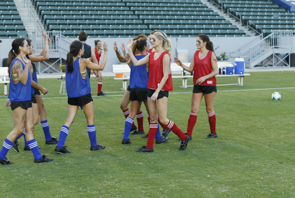 "<div class=""meta ""><span class=""caption-text "">THE BACHELOR - ""Episode 1803"" - Juan Pablo loves soccer, as the women are well aware, and now ten of them will attempt to show off their soccer skills when they arrive at the Stub Hub Center in Carson, California, the home of two-time Major League Soccer World Champions the Los Angeles Galaxy. After he demonstrates some of his signature moves while warming up with a few of the professional players, Juan Pablo splits the women into two teams and the ladies battle for his attention. But the real competition heats up at the after party when the women try to win the group date rose. Sharleen, Andi and Nikki all think their connections with the Bachelor are heating up, but are they? - on ""The Bachelor,"" MONDAY, JANUARY 20 (8:00-10:01 p.m., ET), on the ABC Television Network. (ABC/Rick Rowell) ANDI, SHARLEEN, LAUREN, JUAN PABLO GALAVIS, LUCY, NIKKI, KELLY, ALLI (ABC Photo/ Rick Rowell)</span></div>"