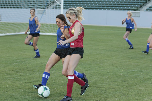 "<div class=""meta ""><span class=""caption-text "">THE BACHELOR - ""Episode 1803"" - Juan Pablo loves soccer, as the women are well aware, and now ten of them will attempt to show off their soccer skills when they arrive at the Stub Hub Center in Carson, California, the home of two-time Major League Soccer World Champions the Los Angeles Galaxy. After he demonstrates some of his signature moves while warming up with a few of the professional players, Juan Pablo splits the women into two teams and the ladies battle for his attention. But the real competition heats up at the after party when the women try to win the group date rose. Sharleen, Andi and Nikki all think their connections with the Bachelor are heating up, but are they? - on ""The Bachelor,"" MONDAY, JANUARY 20 (8:00-10:01 p.m., ET), on the ABC Television Network. (ABC/Rick Rowell) ANDI, SHARLEEN, NIKKI, CHRISTY (ABC Photo/ Rick Rowell)</span></div>"