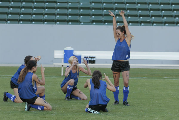 THE BACHELOR - &#34;Episode 1803&#34; - Juan Pablo loves soccer, as the women are well aware, and now ten of them will attempt to show off their soccer skills when they arrive at the Stub Hub Center in Carson, California, the home of two-time Major League Soccer World Champions the Los Angeles Galaxy. After he demonstrates some of his signature moves while warming up with a few of the professional players, Juan Pablo splits the women into two teams and the ladies battle for his attention. But the real competition heats up at the after party when the women try to win the group date rose. Sharleen, Andi and Nikki all think their connections with the Bachelor are heating up, but are they? - on &#34;The Bachelor,&#34; MONDAY, JANUARY 20 &#40;8:00-10:01 p.m., ET&#41;, on the ABC Television Network. &#40;ABC&#47;Rick Rowell&#41; SHARLEEN &#40;OBSCURED&#41;, ANDI, CHRISTY, LAUREN, RENEE <span class=meta>(ABC Photo&#47; Rick Rowell)</span>