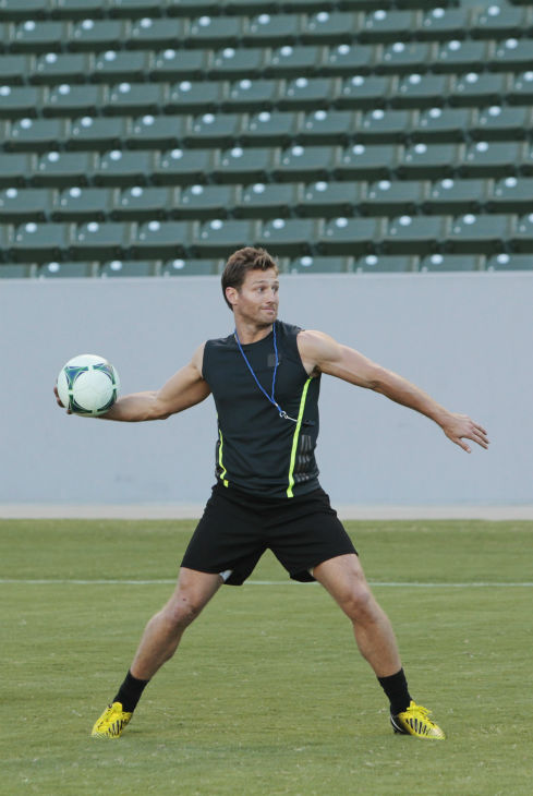 THE BACHELOR - &#34;Episode 1803&#34; - Juan Pablo loves soccer, as the women are well aware, and now ten of them will attempt to show off their soccer skills when they arrive at the Stub Hub Center in Carson, California, the home of two-time Major League Soccer World Champions the Los Angeles Galaxy. After he demonstrates some of his signature moves while warming up with a few of the professional players, Juan Pablo splits the women into two teams and the ladies battle for his attention. But the real competition heats up at the after party when the women try to win the group date rose. Sharleen, Andi and Nikki all think their connections with the Bachelor are heating up, but are they? - on &#34;The Bachelor,&#34; MONDAY, JANUARY 20 &#40;8:00-10:01 p.m., ET&#41;, on the ABC Television Network. &#40;ABC&#47;Rick Rowell&#41; JUAN PABLO GALAVIS <span class=meta>(ABC Photo&#47; Rick Rowell)</span>