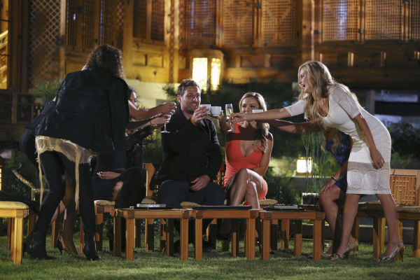 THE BACHELOR - &#34;Episode 1804&#34; - &#34;K-Pop&#34; superstars &#34;2NE1&#34; put Juan Pablo and six of the women through their paces, teaching them a choreographed routine to one of their chart-topping hits. Kat steals the spotlight with her professional dance moves, while Nikki struggles to keep up and fit in. Then the group drops a bombshell -- Juan Pablo and the six beautiful women will perform as background dancers during a concert in front of a live audience. Kat has no problem showing off her expertise and making sure Juan Pablo knows it. Nikki has a serious case of stage fright she must conquer if she is to continue. At the after party, one woman makes it quite clear she is not a fan of group dates and wants Juan Pablo all to herself, on &#34;The Bachelor,&#34; MONDAY, JANUARY 27 &#40;8:00-10:01 p.m., ET&#41;, on the ABC Television Network. &#40;ABC&#47;Christopher Jue&#41; DANIELLE, NIKKI &#40;OBSCURED&#41;, CASSANDRA &#40;OBSCURED&#41;, JUAN PABLO GALAVIS, KAT, ELISE &#40;OBSCURED&#41;, CHELSIE <span class=meta>(ABC Photo&#47; Christopher Jue)</span>