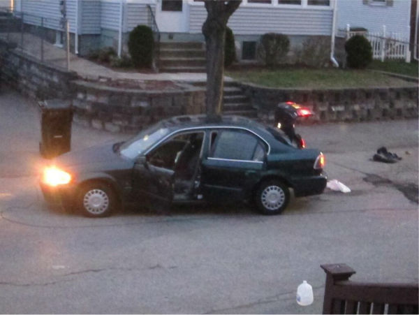 Scene in Boston during manhunt for 2nd suspect <span class=meta>(Twitter user jraske)</span>
