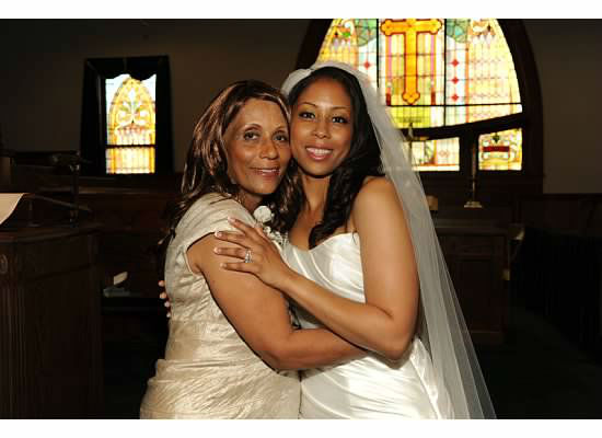 "Eyewitness News reporter Darla Miles and her mother at Darla's wedding. ""Sweetest Mommy Ever"""