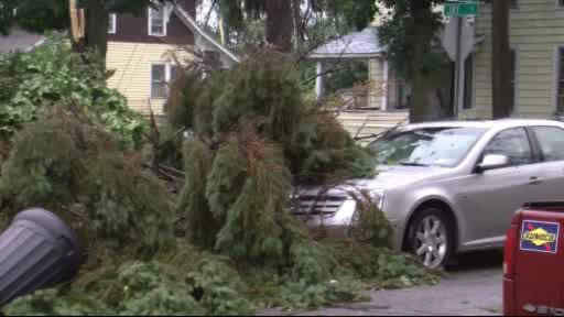 A possible tornado touches down in Elmira, New York  <span class=meta>(WABC Photo)</span>