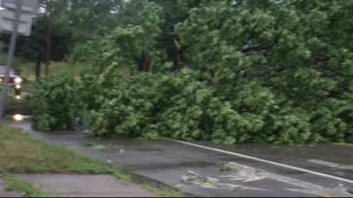 A possible tornado touched down in Elmira, New York  <span class=meta>(WABC Photo)</span>