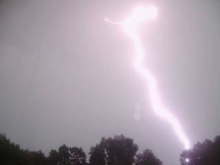 Lightning Strike in Holbrook, NY