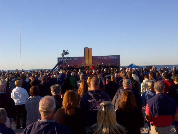 Ceremony at Point Lookout <span class=meta>(Eyewitness News reporter Kristin Thorne)</span>