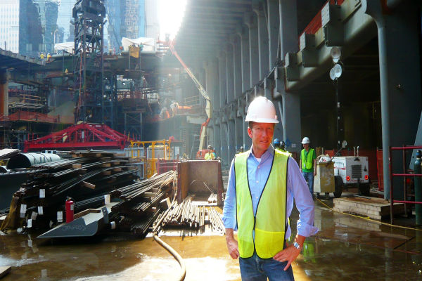 By this time next year, Four World Trade Center will rise to 72 stories, or 977 feet. As tall as that is, the other towers in the master plan are designed to be even taller.  <span class=meta>(WABC Photo&#47; NJ Burkett)</span>