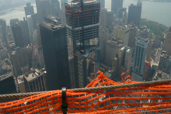 A look at Four World Trade Center construction