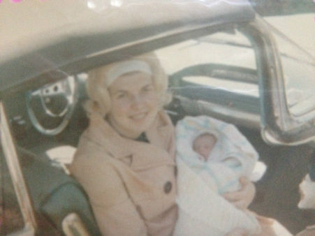 "Eyewitness News reporter Lisa Colagrossi and her mother. "" Coming home from the hospital in Cleveland, Ohio. My mother Lois Colagrossi sporting the 60's headband in a Chevy convertible. No seatbelts, no   car seats!    She has always been my sounding board.  Great style, great laugh and more energy than all of us. Happy Mother's Day!"""