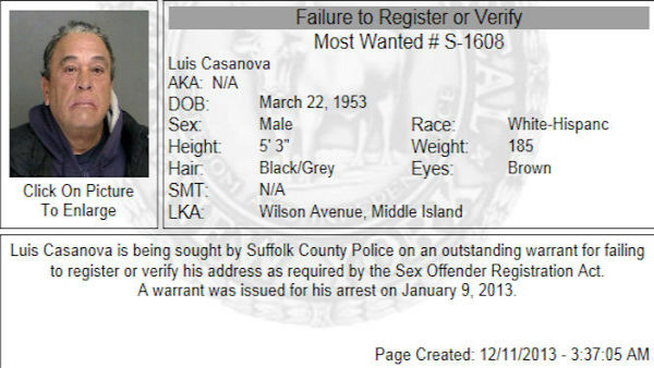 Photos of Suffolk County's most wanted provided by Suffolk County Police Department.