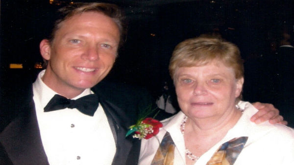 Eyewitness News reporter N.J. Burkett and his mother.