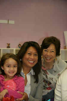 Here is my mom, Mila, with me and her first ?apo? which is what grandchildren are called in the Philippines. My daughters call her ?Lola?.  It?s so nice to watch their relationship grow, grandkids are pure enjoyment and no discipline!