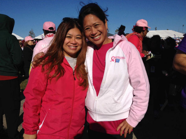 Eyewitness News reporter Nina Pineda made strides today at Overpeck State Park in Ridgefield, NJ. Nina emceed the walk and there were over 10,000 walkers and 300 volunteers! <span class=meta>(WABC Photo)</span>