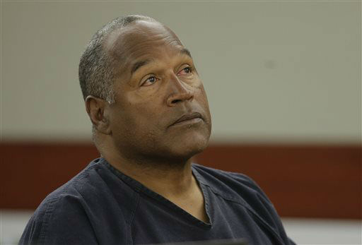 O.J. Simpson listens to testimony at an evidentiary hearing in Clark County District Court, Monday, May 13, 2013 in Las Vegas. Simpson, who is currently serving a nine-to-33-year sentence in state prison as a result of his October 2008 conviction on armed robbery and kidnapping charges, is seeking a new trial, claiming that trial lawyer Yale Galanter had conflicted interests and shouldn&#39;t have handled Simpson&#39;s armed case. &#40;AP Photo&#47;Julie Jacobson, Pool&#41; <span class=meta>(AP Photo&#47; Julie Jacobson)</span>