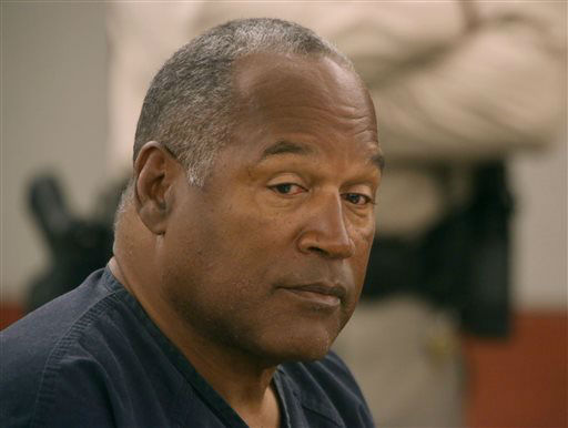 "<div class=""meta ""><span class=""caption-text "">O.J. Simpson appears in court at Clark County Regional Justice Center in Las Vegas, Monday, May 13, 2013. Simpson, who is currently serving a nine-to-33-year sentence in state prison as a result of his October 2008 conviction on armed robbery and kidnapping charges, is seeking a new trial, claiming that trial lawyer Yale Galanter had conflicted interests and shouldn't have handled Simpson's armed case. (AP Photo/Las Vegas Review-Journal, Jeff Scheid, Pool) (AP Photo/ Jeff Scheid)</span></div>"