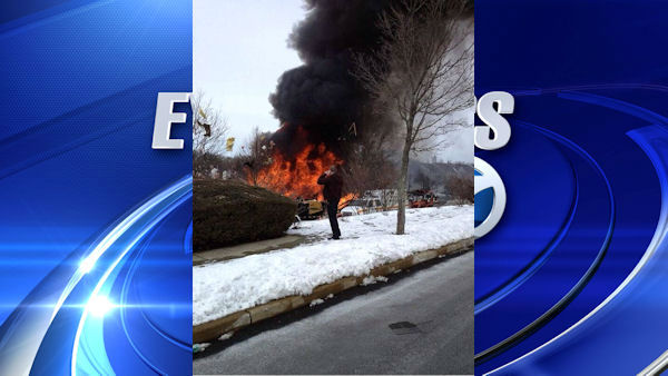 "<div class=""meta ""><span class=""caption-text "">An explosion rocked a neighborhood in Ewing Township, NJ just before 1 p.m. (Gregg Crannage)</span></div>"