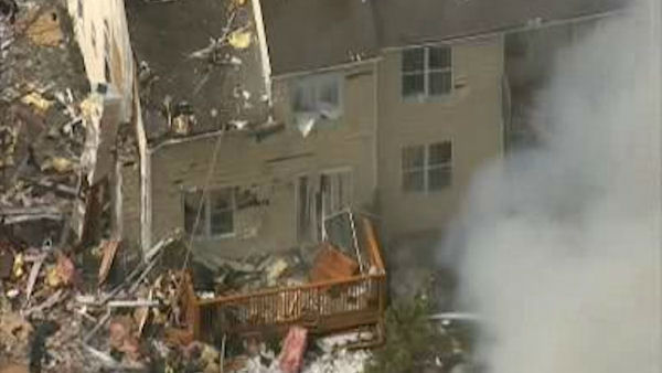 An explosion rocked a neighborhood in Ewing Township, NJ just before 1 p.m