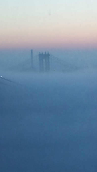 More fog in the New York area