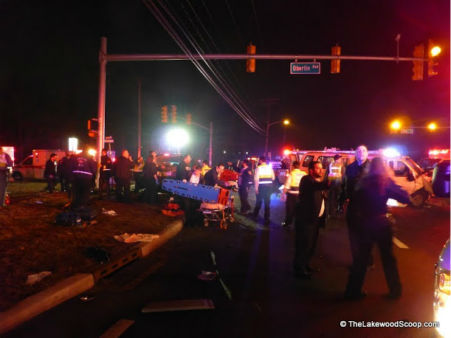 "<div class=""meta ""><span class=""caption-text "">Two vehicles collided in Lakewood, New Jersey on Tuesday night injuring several people. (Photo/TheLakewoodScoop.com)</span></div>"