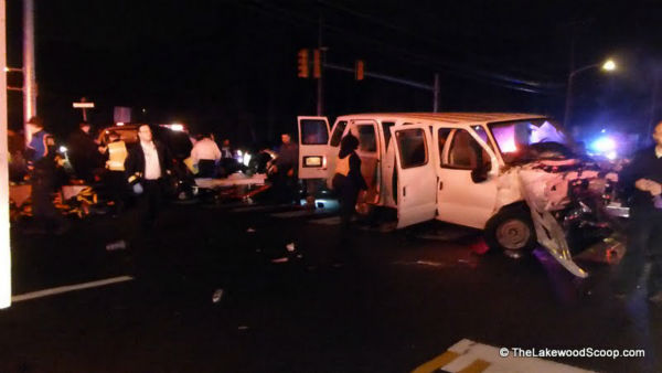 Several people were injured when two vehicles collided in Lakewood, New Jersey on Tuesday night. <span class=meta>(Photo&#47;TheLakewoodScoop.com)</span>