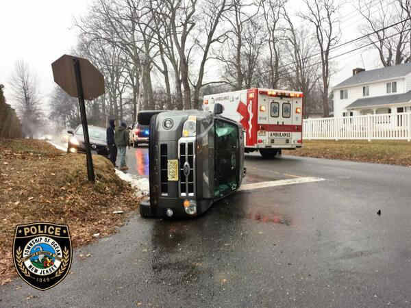 Accident in Ocean Township.   Photo from Ocean Township Police.