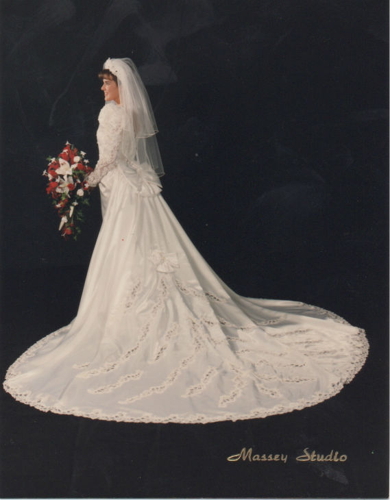 Eyewitness News Meteorologist Amy Freeze on her wedding day.