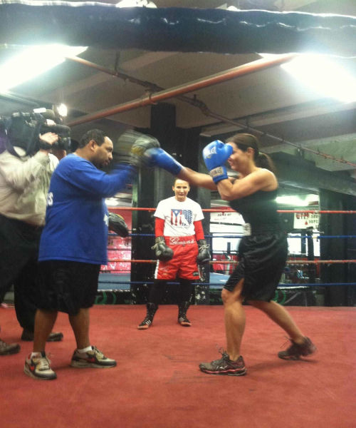 "<div class=""meta image-caption""><div class=""origin-logo origin-image ""><span></span></div><span class=""caption-text"">Golden Glove champion Christina Beckles has not fought in the ring for 3 years! Now, she's back at Brooklyn's World Famous Gleason's Gym, home to historic prize fighters, the spot where Hilary Swank became Million Dollar Baby and where many legends got their star. Beckles goes center ring not seeking a title but fighting so dogs don't have to.  (WABC Photo/ Amy Freeze)</span></div>"