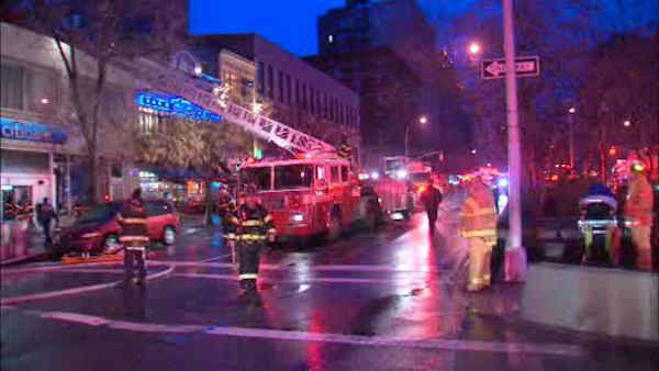 "<div class=""meta ""><span class=""caption-text "">Firefighters battled a 5-alarm fire at a Citibank in Morningside Heights Saturday morning.</span></div>"