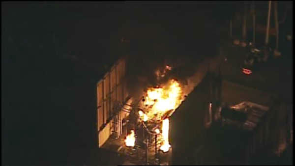 A transformer fire broke out Wednesday at a PSE & G switching station in Branchburg, New Jersey.