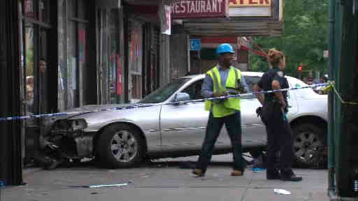 "<div class=""meta ""><span class=""caption-text "">A livery car driver died after suffering a heart attack and crashing into a building in the Bronx injuring a mother and her infant child.</span></div>"