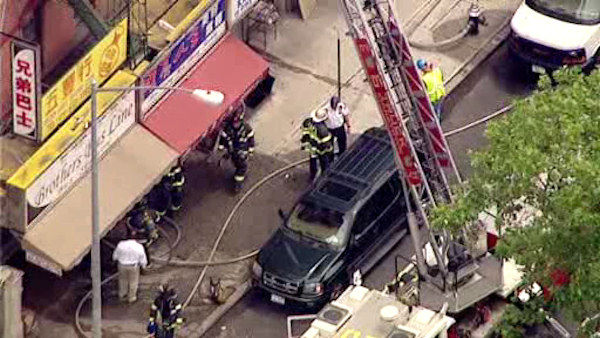 Multiple people were injured after an apparently gas explosion broke out in a Chinatown building.