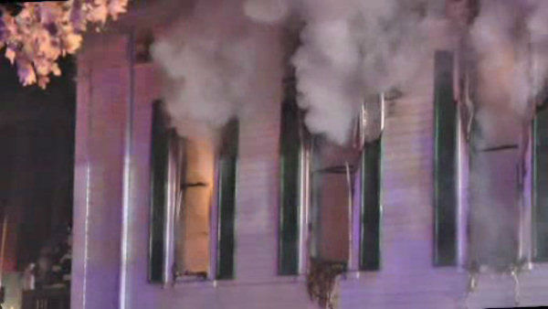 An historic church was gutted by fire early Sunday morning in Yaphank, Long Island.