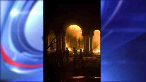 "<div class=""meta image-caption""><div class=""origin-logo origin-image ""><span></span></div><span class=""caption-text"">A 19th-century Brooklyn church that was a hub for Hurricane Sandy volunteer efforts has been damaged in a Sunday morning fire investigators call suspicious. (WABC Photo)</span></div>"